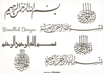 Bismillah Designs Shape Set - Free vector #338123