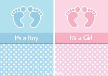 Cute Baby Shower Card Set - vector gratuit(e) #338143