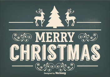 Vintage Christmas Illustration - Free vector #338163