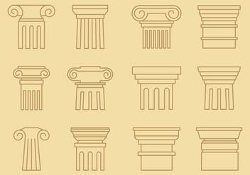 Pillars Line Style - бесплатный vector #338343