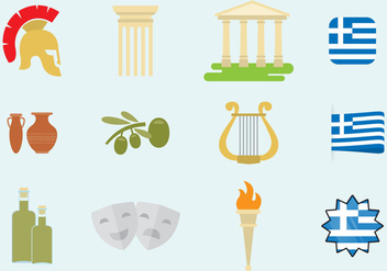 Greece Icons - vector #338353 gratis