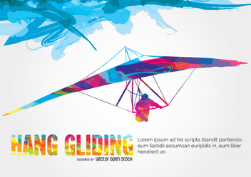 Hang Gliding colorful design - vector gratuit #338453