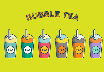 FREE BUBBLE TEA VECTOR - Free vector #338653