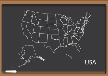State Outlines Map Vector - vector #338763 gratis