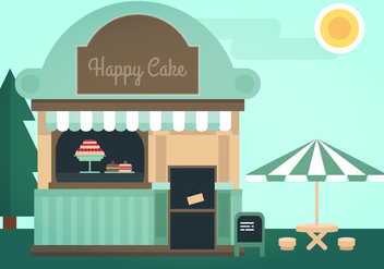 Cake Shop Vector Illustration - Free vector #338783