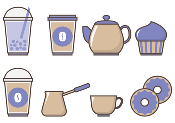 Bubble Tea and Drinks - vector gratuit #338813