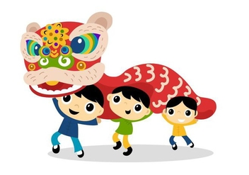 Lion Dance - Free vector #338833