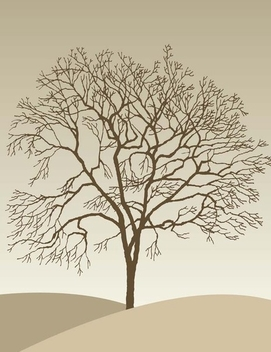 Tree Silhouette - Kostenloses vector #338913