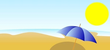 Summer beach - vector gratuit #338963