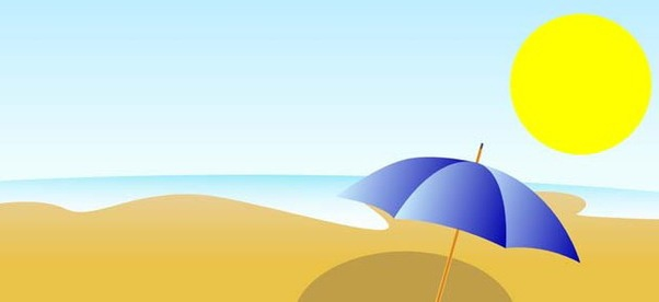 Summer beach - Free vector #338963