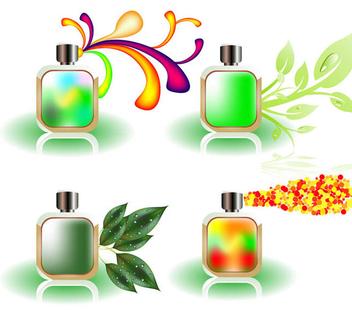 Vector Perfume Bottles - vector gratuit #339073