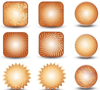 Collection of grunge buttons - Kostenloses vector #339093