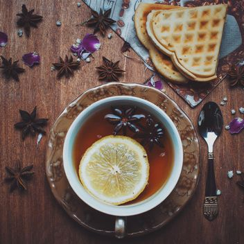 Tea with anise and lemon - Free image #339213