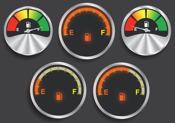 Fuel indicator vectors - Free vector #339333