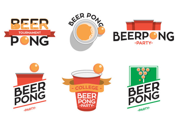 Beer Pong Typo Vector - бесплатный vector #339343