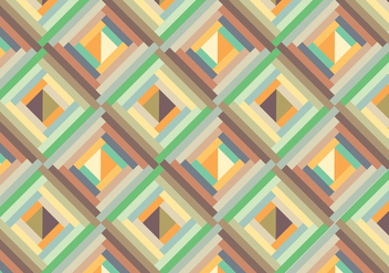 Retro geometric pattern background - Free vector #339443