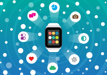Free Smart Watch and Smartphone Vector - Free vector #339483