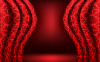 Red vector curtain background - бесплатный vector #339623