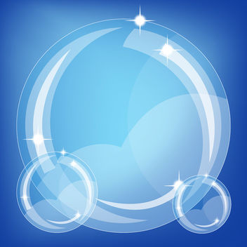 Blue background with bubbles - Free vector #339633