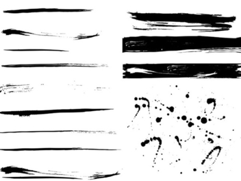 Grunge Paint Traces & Splashes - Free vector #339673
