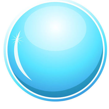 Blue Glossy Button - Kostenloses vector #339683