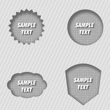 Vector Inner Shadow Labels - Free vector #339903