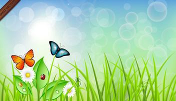Spring Vector Landscape - Kostenloses vector #339973