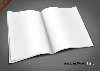 Free Vector Magazine Mockup - бесплатный vector #340013