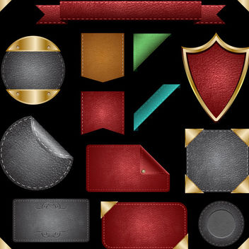 Leather Badges - Kostenloses vector #340153