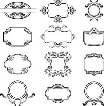 Heraldic Vector Frames - Free vector #340193