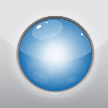 Glossy Blue Circle - Free vector #340383