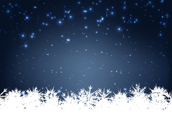 Vector Winter Card - vector gratuit #340423