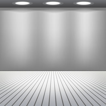 Room with Lights - vector gratuit #340613