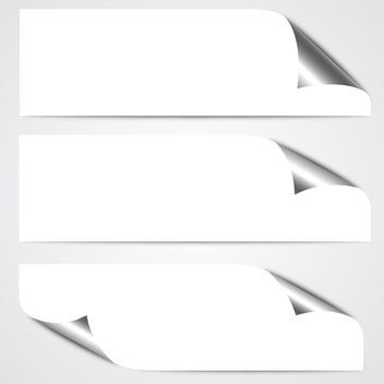 Curled Paper Banners - Free vector #340693