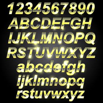 Golden Metal Font - vector #340703 gratis
