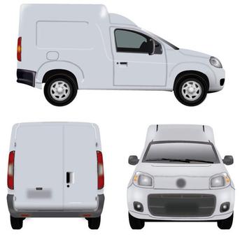 White Minivan - Free vector #340713