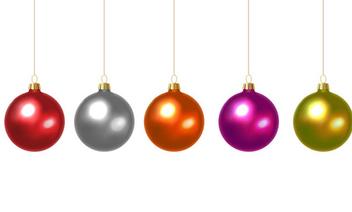 Vector Christmas Balls - vector gratuit #340753