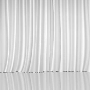 White Vector Curtain - vector gratuit #340823