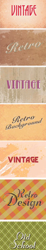 Vintage Text Style - Free vector #340903
