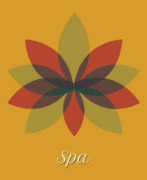 Spa Multicolored Flower Transparent Leaves - vector gratuit #340943