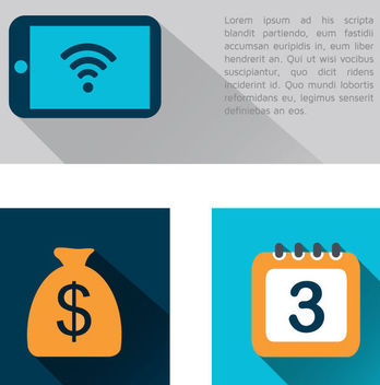 3 Business Financial Icons - Free vector #340953