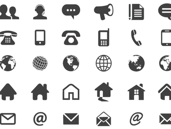 Contact flat icons - vector gratuit #340963