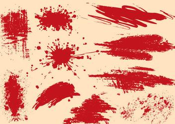 Grungy Splashed Splatters - Kostenloses vector #341143