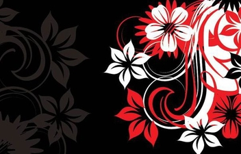 Red Black Flouring Swirls Background - vector gratuit #341193