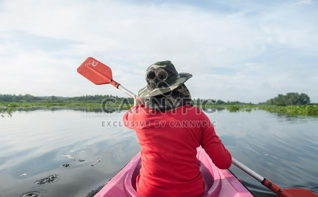 Person in kayak on river - Free image #341283
