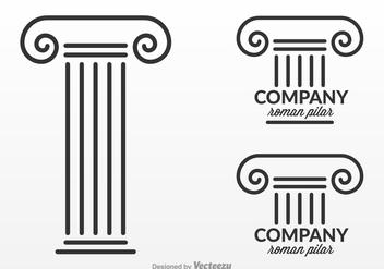 Free Roman Pillar Logo Design Vector - vector gratuit #341393