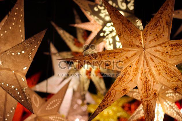 Close up of Christmas illuminated stars - Free image #341543