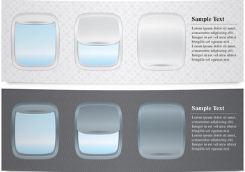 Plane Windows Banners - Free vector #341603