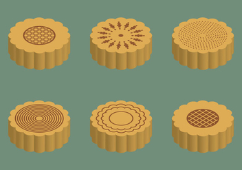 Free Mooncake Vector Illustration - бесплатный vector #341673