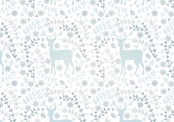 Deer Vector Seamless Pattern - Free vector #341683